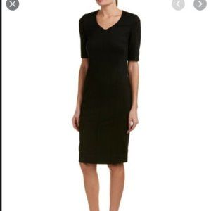 CAbi Claire Black Short Sleeve Midi Dress 10